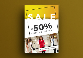 Sale Card Layout with Yellow Accent