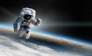 Wall Murals Nasa Concept of conquering the universe by the human race. Elements of this image furnished by NASA