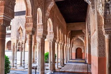 Interiors of Alhambra palace in Granada, Spain