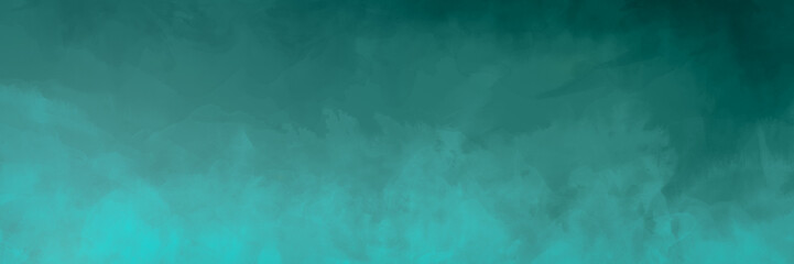 Sea green, turquoise, distressed watercolor texture background