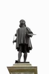 Urbino, PU, Italy - November 1, 19: Statue of a major ancient pa