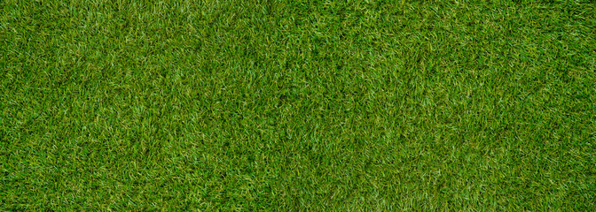Tuinposter Gras Green wall and green background of artificial grass designed for outdoor sports.