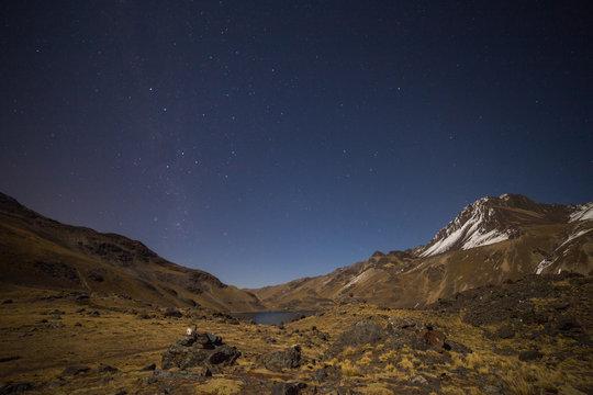 Night at the Condoriri base camp, Bolivia