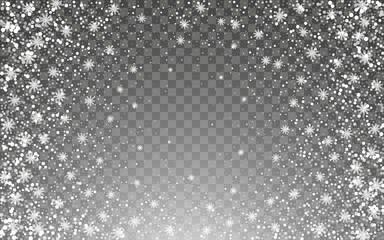 Snowfall and falling snowflakes Fotobehang