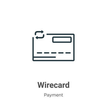 Wirecard outline vector icon. Thin line black wirecard icon, flat vector simple element illustration from editable payment concept isolated on white background