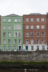 Colourful irish architecture in Dublin city