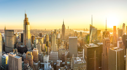 Wall Mural - New York City Manhattan midtown buildings skyline in 2019