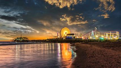 Santa Monica Pier at sunset Wall mural