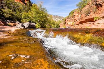 Fotobehang Blauwe hemel Slide Rock State Park Arizona