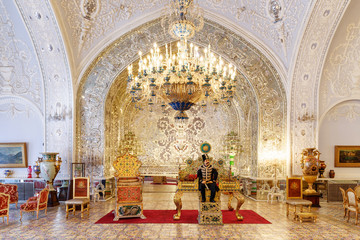 Amazing view of the Salam Hall at the Golestan Palace