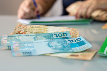 Foto op Plexiglas Brazilië Real - Brazilian Currency