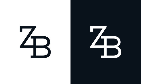 Creative line art letter ZB logo. This logo icon incorporate with two letter in the creative way.