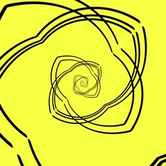 YELLOW BLACK COLOR ABSTRACT ART