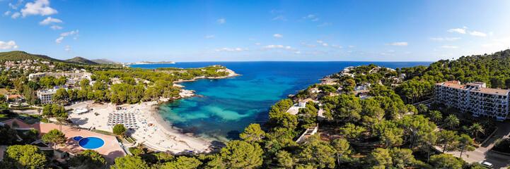 Panorama Luftbild Traumstrand auf Mallorca