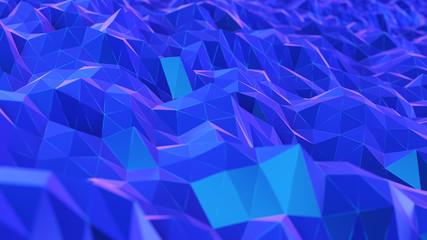 Türaufkleber Dunkelblau 3d rendered synthwave style illustration of a digital landscape
