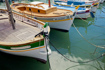 Boats in the port of Cassis town. Provence, France