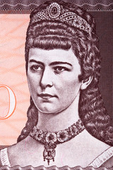 Empress Elisabeth of Austria a portrait from money