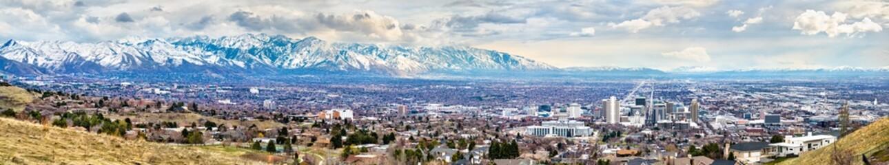 Panorama of Salt Lake City in Utah