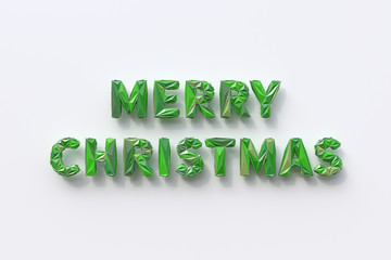 Merry Christmas, stylized words