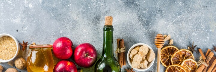 Spoed Foto op Canvas Wijn Mulled wine ingredients