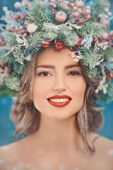 xmas female beauty