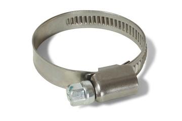Hose clamp on white