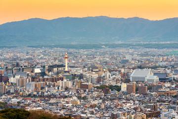 Fototapete - Kyoto, Japan city Skyline from Sbavoe