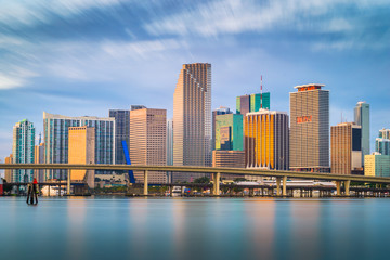Wall Mural - Miami, Florida, USA downtown skyline.