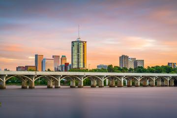 Wall Mural - Tulsa, Oklahoma, USA downtown skyline on the Arkansas River