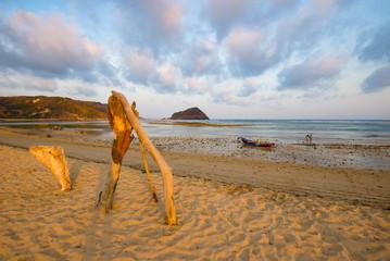 Early evening beach on Lombok island - Lombok, Indonesia.