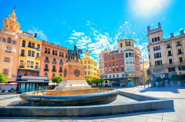 Central square of Tendillas (Plaza de las Tendillas) in Cordoba. Andalusia, Spain