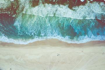 Aerial view of Senegal Atlantic cost. Paradise beach. Wall mural