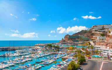 Puerto Rico resort town. Gran Canaria, Canary islands, Spain