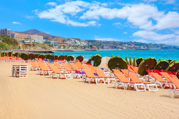 Playa del Ingles beach. Gran Canaria, Canary islands, Spain