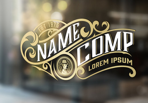 Vintage Logo Layout with Floral Elements