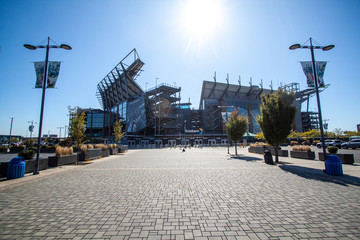 USA, Philadelphia, October 2019: Lincoln Financial Field in Washington state of Maryland