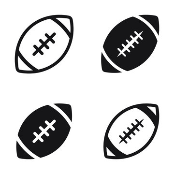 American football ball - vector icon isolated