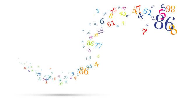numeri, nuvola di numeri, confusione, gruppo