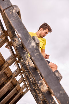 young person going through an obstacle course in a Spartan race