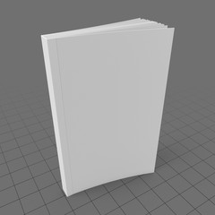 Upright softcover book