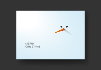 Christmas Card Layout with Snowman Long Nose