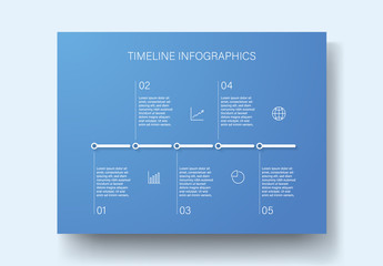 Blue Timeline Infographic Layout