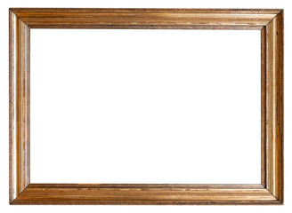 Photo antique picture frame isolated on white background