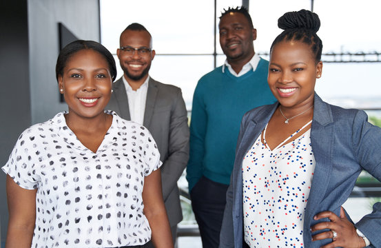 Two African American female leaders and two black male business