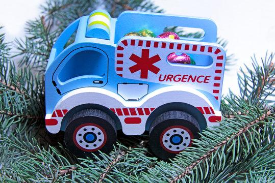 ambulance bleue