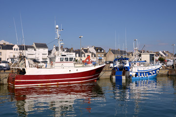 Fishing harbor of La Turballe, a commune in the Loire-Atlantique department in western France.