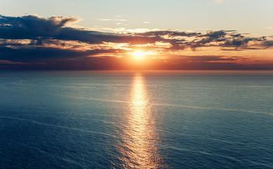 sunset on the Atlantic ocean Fototapete
