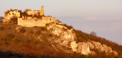 Falkenstein Castle in autumn, Austria