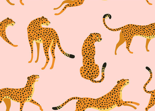 Abstract leopard pattern. Vector seamless texture. Trendy Illustration.