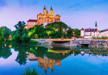 Melk, Austria. Benedictine abbey. Fototapete